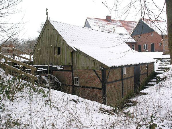 Watermolen de Mast in de winter