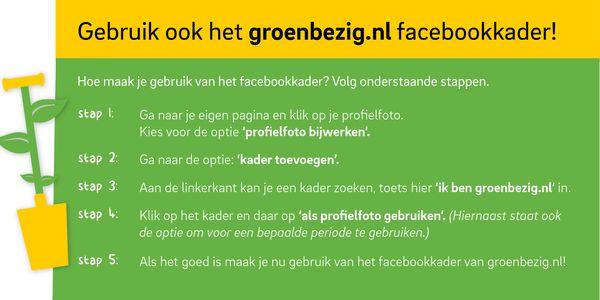 Volg het stappenplan om het Facebookkader in te stellen