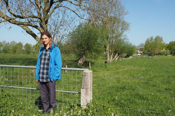 Otto Veerman op het terrein van het toekomstige voedselbos
