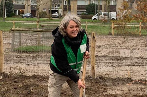 Monique Meijer op de Wijkboerderij De Eemhoeve