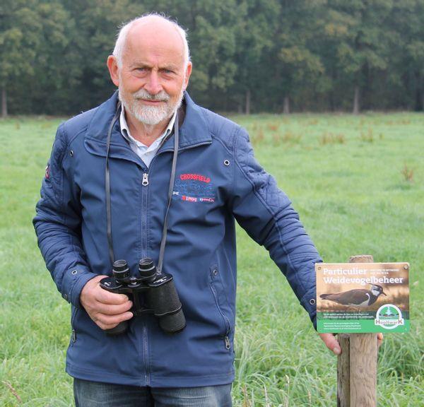 Weidevogel-vrijwilliger Herman Kraak is volop in het veld te vinden