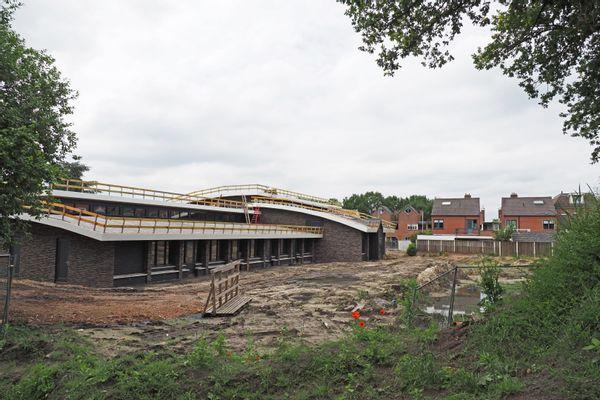 Het toekomstige schoolplein van de Nultsschool in Oldenzaal